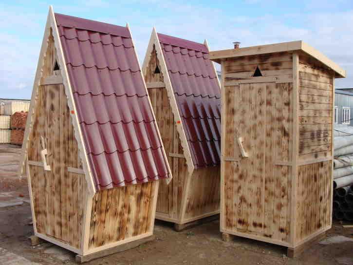 Дачные туалеты деревянные своими руками размеры