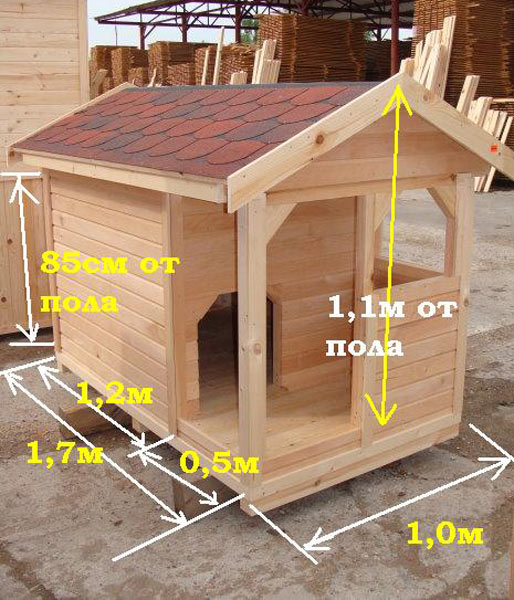 Как сделать теплую будку для собаки: чертежи, фото 8