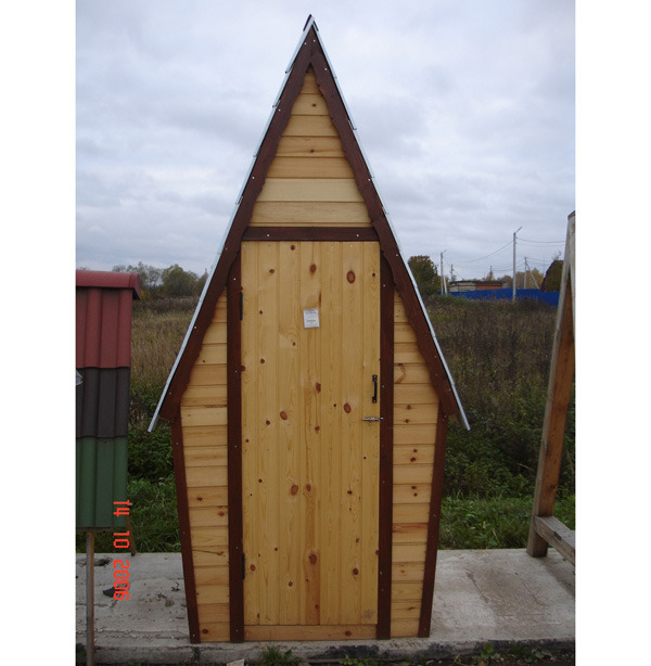 Как построить дачный туалет шалаш своими руками